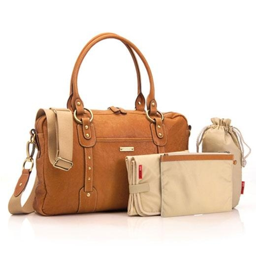 Storksak Elizabeth Tan Leather Changing Bag